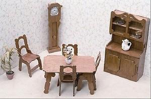 Dollhouse Miniature - FK7202 - Furniture Kit - Dining Room