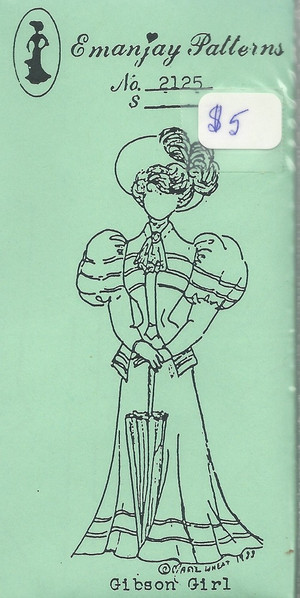 2125 - Gibson Girl Dress, Hat, Parasol- Emanjay Sewing Pattern
