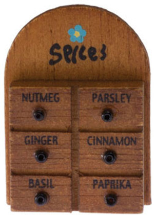 Dollhouse Miniature - 21101 - Spice Rack - IM65293