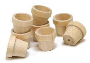 1717 - Wooden Flower Pot