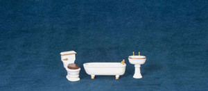 "1/2"" Scale - T0229 - Bathroom Set -  3 pc"