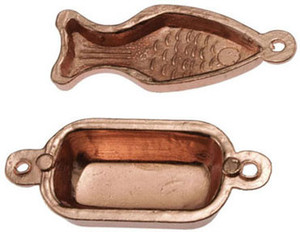 21047 -  Copper Moulds-Fish/Rectangle