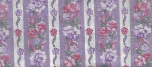 "2922 - Fabric:  Purple & White Stripe  - 9"" x 11"""