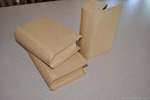 """15530 - Book - Display - Cardboard - 9"""" H x 6"""" W x 2.5"""" D closed"""