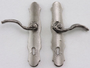 CLA05581 - French Door (Lever) Handle - 1 Pair - Pewter