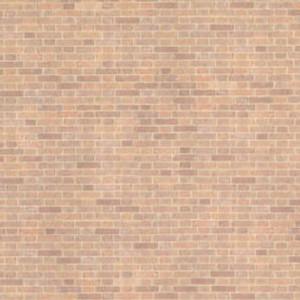 "JMS51 - 1/2"" Scale Wallpaper - Old Red Bricks"