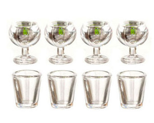 """G2762 - Tableware Set - 1/2"""" Scale - 8 pc."""
