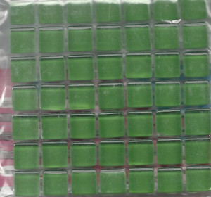 "Dollhouse Miniature - 19701-8 - Glass Tiles - Green - 3/8"" each"