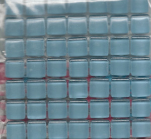 "Dollhouse Miniature - 19701-3 - Glass Tiles - Baby Blue - 3/8"" each"