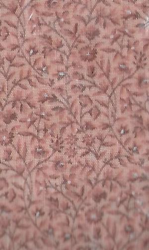 """2914 - Fabric:  Peach Floral - 9"""" x 11"""""""