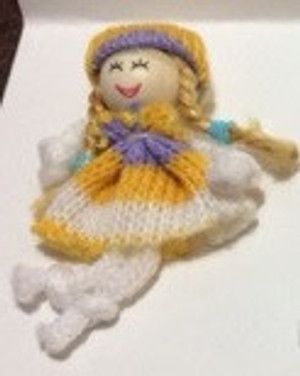 Dollhouse Miniature - 03709-1  - Raggedy Doll - Knit