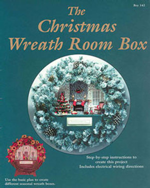 BOY142 - Christmas Wreath Room Box Book