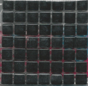 "Dollhouse Miniature - 19701-5 - Glass Tiles - Black - 3/8"" each"