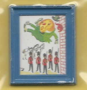 Dollhouse Miniature - 9094GP - Humpty Dumpty Picture - Framed