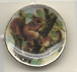159-4 - SQUIRREL & CHIPMUNKS PLATE