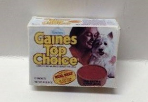 Dollhouse Miniature - HR57020 - Gains Top Choice Dog Food Box