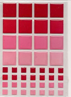 57402 - TILES - RED & PINK