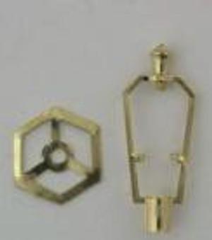 "FCA1559SM - Lamp Harp w/Hex Ring - 1"" H"