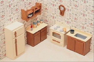 Dollhouse Miniature - FK7205 - Furniture Kit - Kitchen