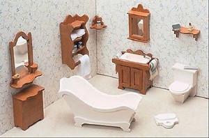 Dollhouse Miniature - FK7204 - Furniture Kit - Bathroom