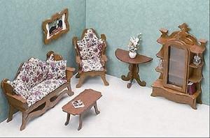 Dollhouse Miniature - FK7203 - Furniture Kit - Living Room