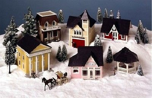 "Dollhouse Village Kit  - 1/4"" Scale - VK8108  - The Miniature Greenleaf Town"