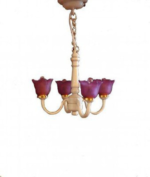 Dollhouse Miniature - C10P - Battery LED - The Orchid Ceiling Lamp