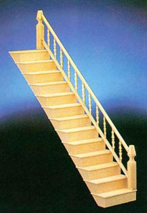 Dollhouse Miniature - CLA70208 - Preassembled Fancy Stair Kit
