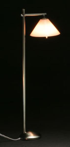 Dollhouse Miniature - MH45155 - Modern Floor Lamp - Down Shade - Pewter - 12 v