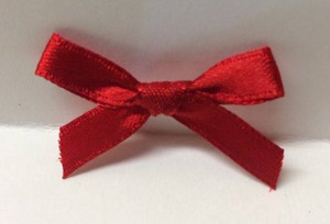 Dollhouse Miniature - 3739-1 - Bow - Ribbon - Red