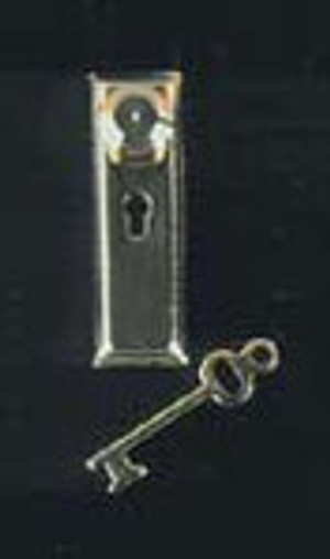 "Dollhouse Miniature - 1/2"" Scale - HW H1114 - Knob with Keyplate/Key - Pkg/6"