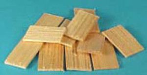 "Dollhouse Miniature - 1/2"" Scale - HW H7004 - Cedar Shingles - 400 Pc/Bag"
