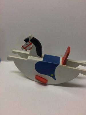 Dollhouse Miniature - 519202 - Rocking Horse - White - Large