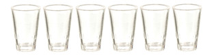 Dollhouse Miniature - FA40234 - Drinking Glasses - Set/6 - Clear