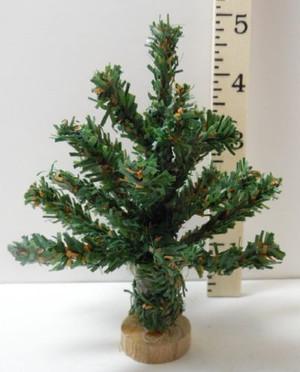 """Dollhouse Miniature -4"""" Christmas Tree - T0844A"""