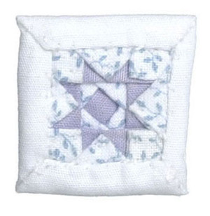ALS220HB - Alice Lacy - Quilted Pillow - White & Purple Star