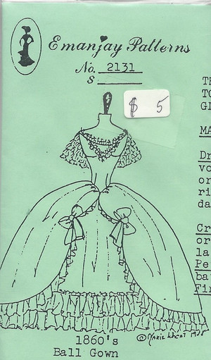 2131 - 1860's Ball Gown- Emanjay Sewing Pattern
