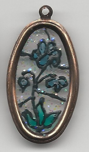 Dollhouse Miniature - 530 - Stained Glass Oval Picture