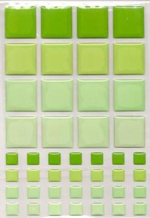 Dollhouse Miniature - 57403 - TILES - Green
