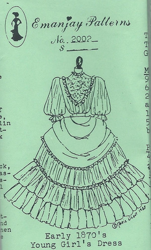 2002 - Early 1870's Young Girl's Dress -Emanjay Sewing Pattern