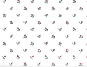 NC776.12 -  WP - White with Red Floral