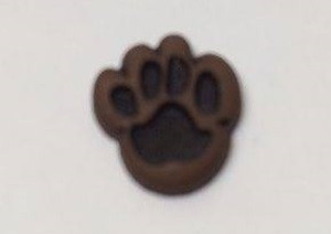 Dollhouse Miniature - 50076-1 - Dark Paw Print Dog Cookie