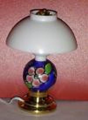 Dollhouse Miniature -MH915 -Modern Table Lamp - April Flowers