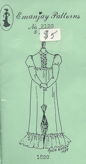 2120 -1811-1820 Regency Dress- Emanjay Sewing Pattern