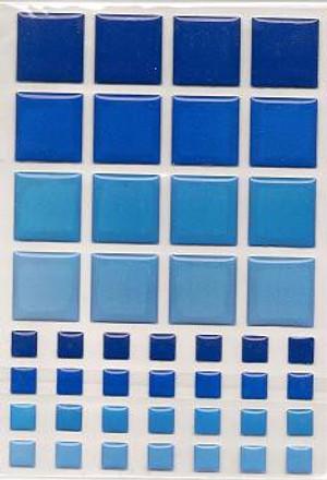 57404 - TILES - DARK BLUE & BLUE
