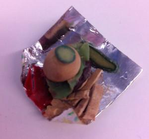 13082 - Hamburger Meal w/Fries & Pickles