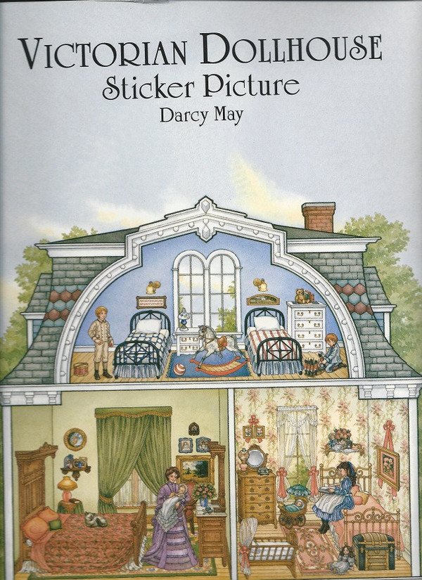 0 486 40375 0 Victorian Dollhouse Sticker Book A