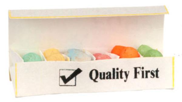 Dollhouse Miniature -FA54251 - Easter Egg Carton Filled with Coloured Eggs
