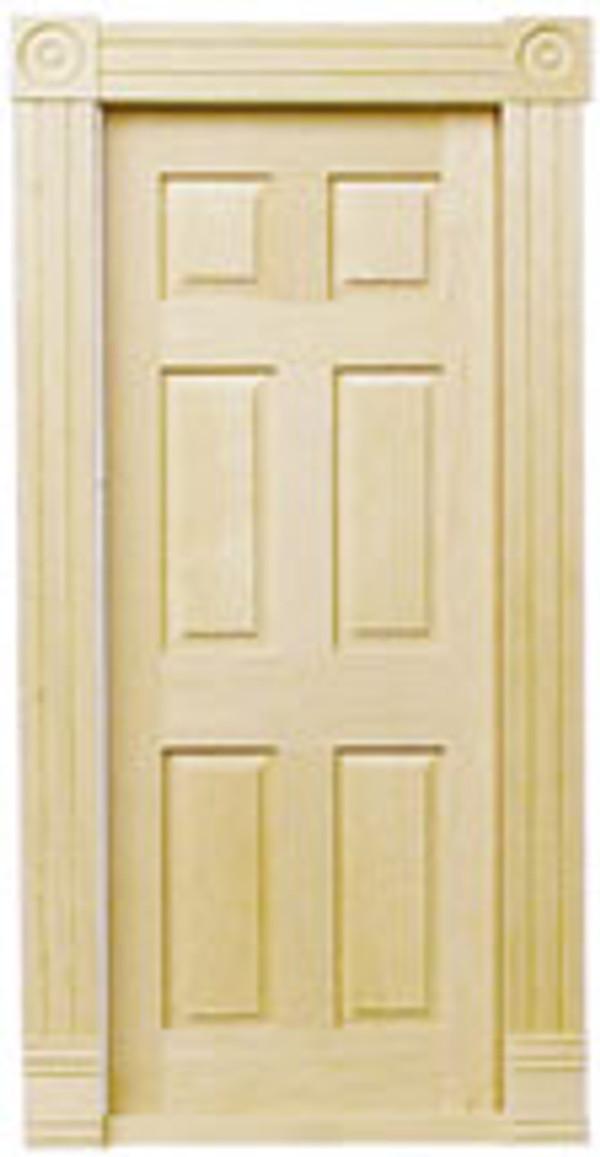 Dollhouse Miniature -HW6025 - Traditional Block & Trim Interior Door