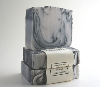 Lavender Mint Charcoal with beautiful swirls.